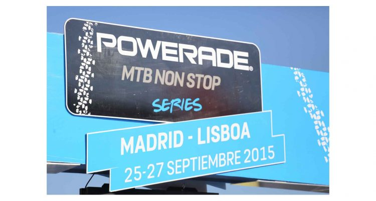 Logo Powerade MTB Non Stop Madrid - Lisboa