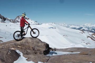 Snowboarder vs Biker