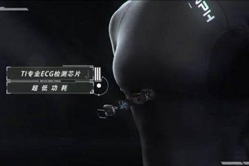Camiseta inteligente con pulsómetro Zenph de Xiaomi