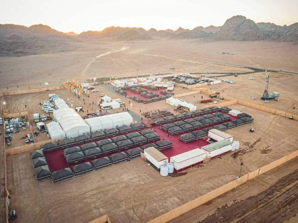 Campamento Titan Series Arabia Saudí