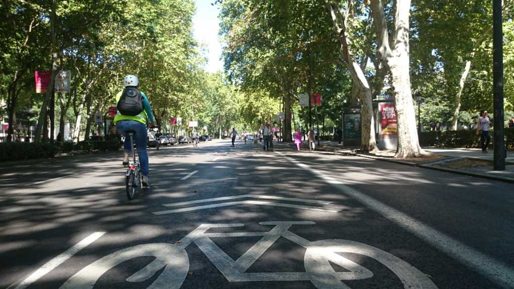 normas ir en bici por Madrid
