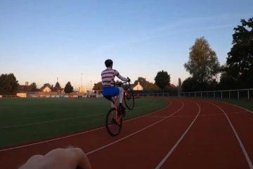 vídeo récord mundo caballito bici