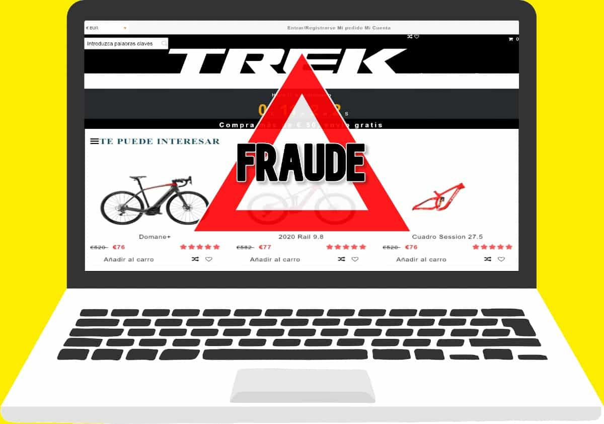 web fraudulenta Trek