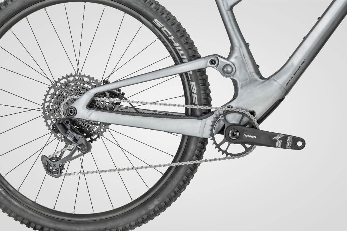 Detalle del cuadro de aluminio Scott Spark 2022