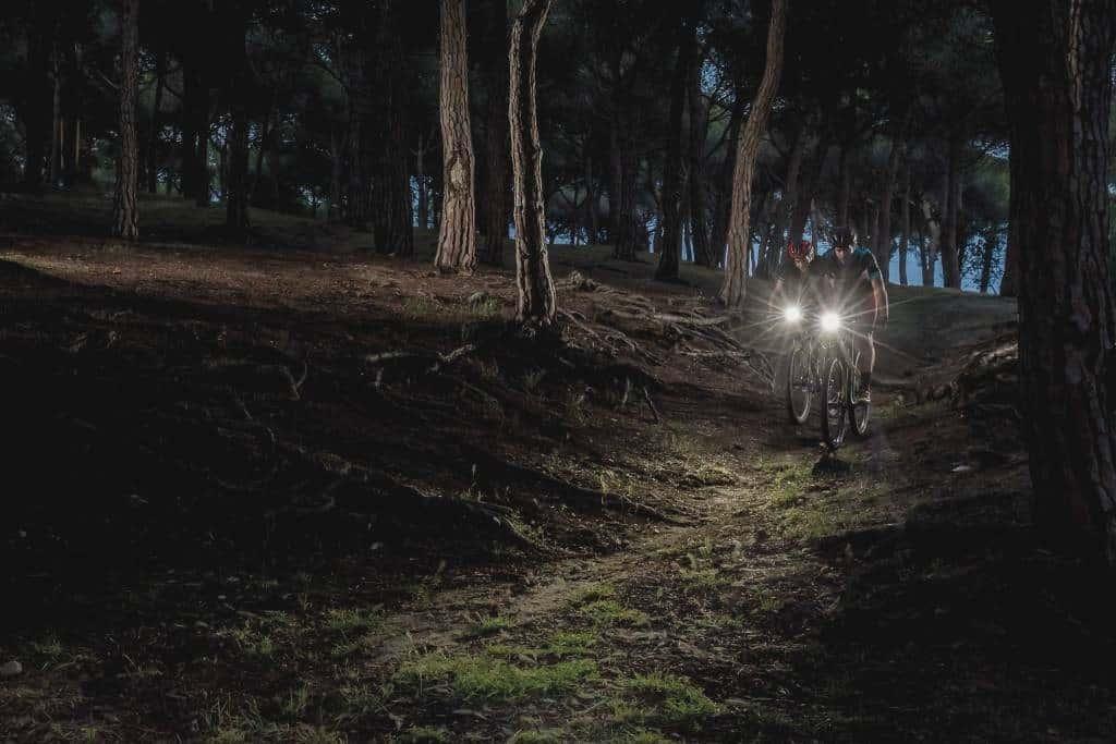 salida nocturna en bici