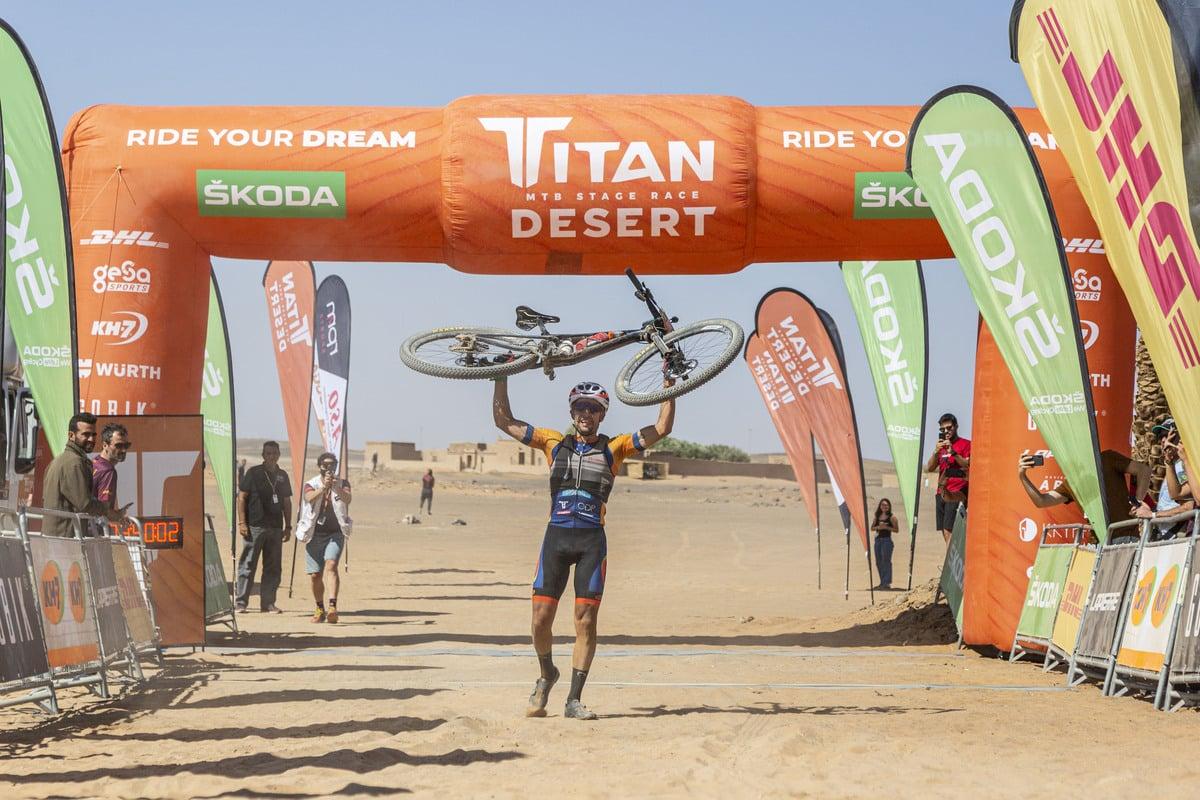 Miguel Muñoz ganador etapa 4 Titan Desert 2021